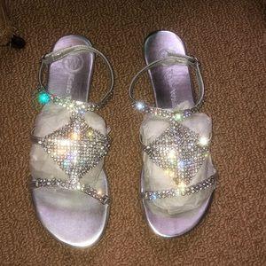 29cd1b768e8 Women s Wedding Flat Sandals With Rhinestones on Poshmark